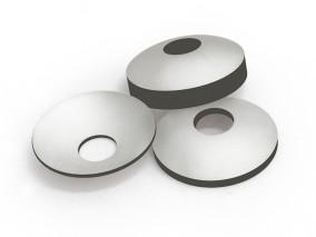 PZT-DM4D-弧形片压电陶瓷-φ35xR24.5x 4.65mm-0.5MHz